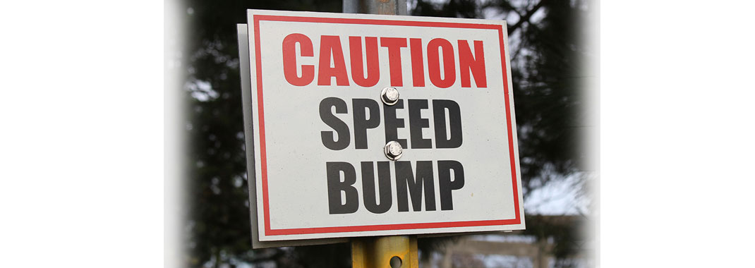 Caution Speed Bump sign
