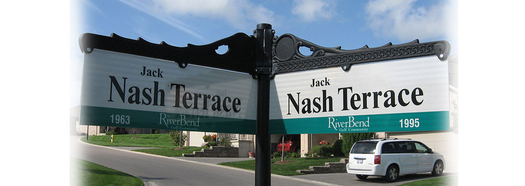 Custom Street Name Blade sign