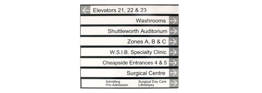 Custom Paper Insert Directional for Hospital