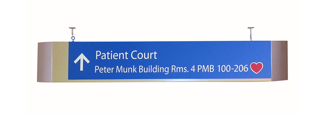 Hanging Sign Aluminum Modular for Hospital