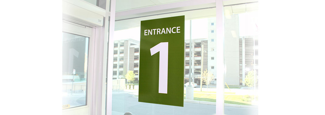 Hospital Wayfinding Window Graphics