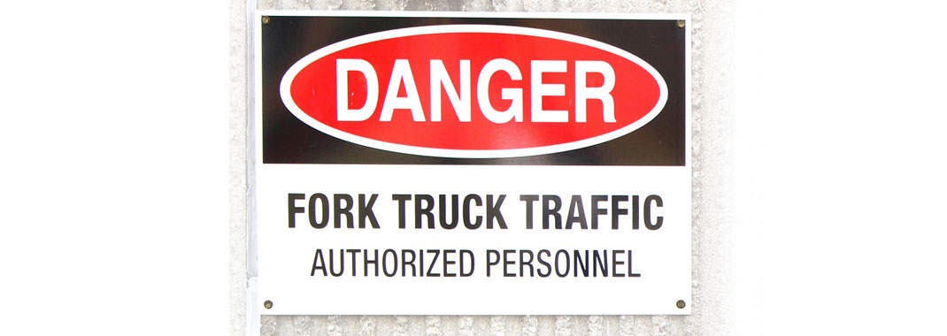 Danger, Fork Truck Traffic Sign