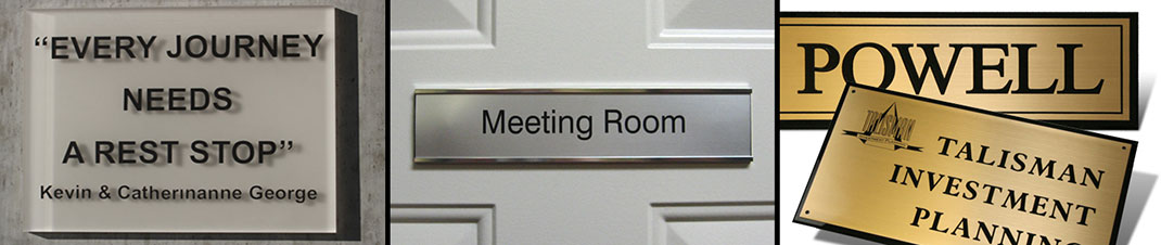 Desk and Door Name Plate Identification