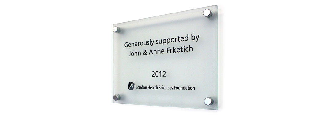 Donor Plaque Stand Off 2012 Wayfinding System