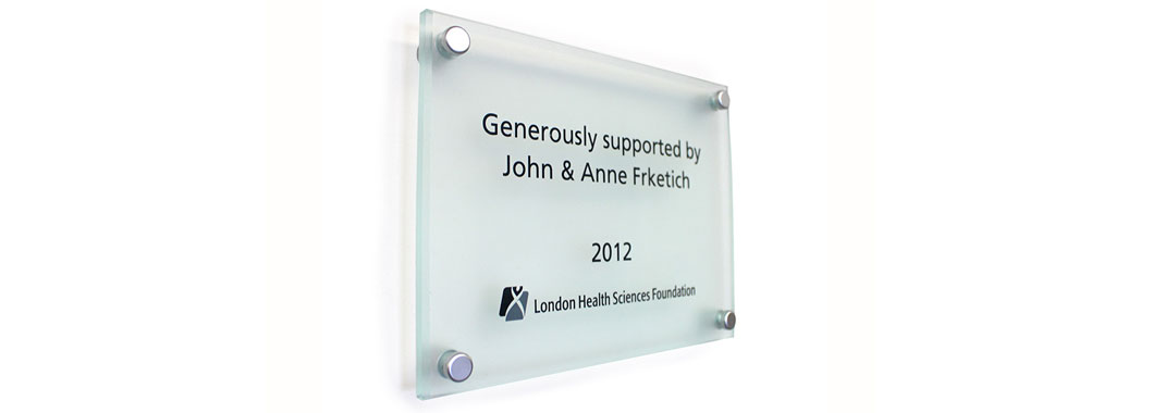 Donor Plaque Stand Off Wayfinding System