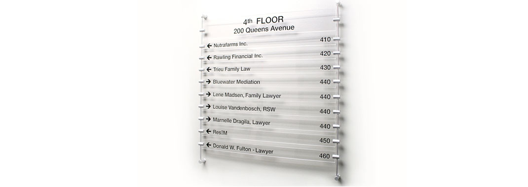 Directory Stand Off Wayfinding System
