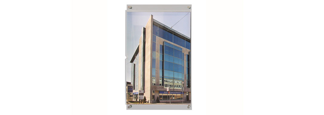 Glass Insert Frames Stand Off Wayfinding System