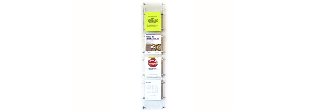 Stand Off Document Holder Stand Off Wayfinding System