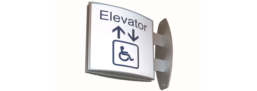Elevator Projectional Curved Wayfinding Systems