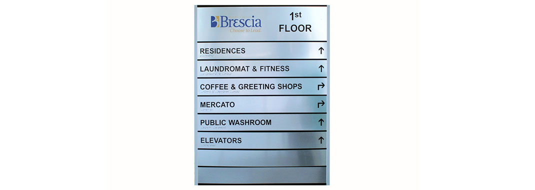 Residence Directional Curved Wayfinding sign