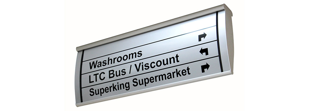 Shopping Mall Curved Wayfinding System