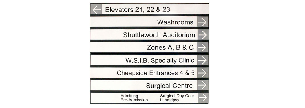 Paper-Insert Wayfinding Systems for Hospitals