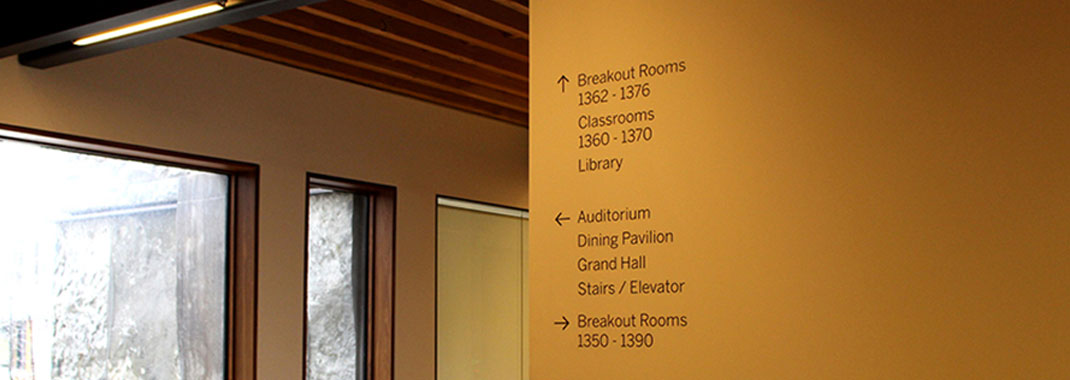 Architect-Specified Wayfinding Vinyl Systems