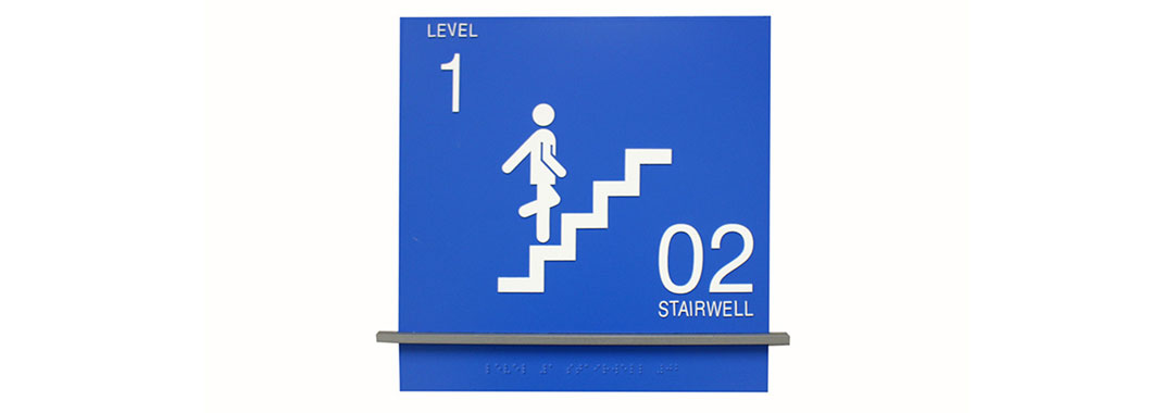 Braille & Tactile Wayfinding Stairwell sign