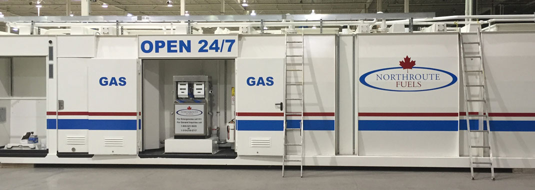 Wall Graphic Portable gas stop