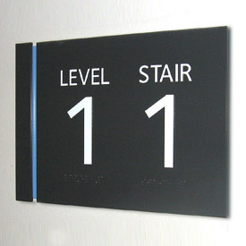Braille Signs Indicating Level and Staircase number