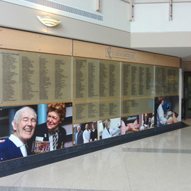 Donor Displays and Wall Recognition