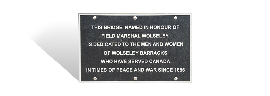 Cast Plaques Bridge