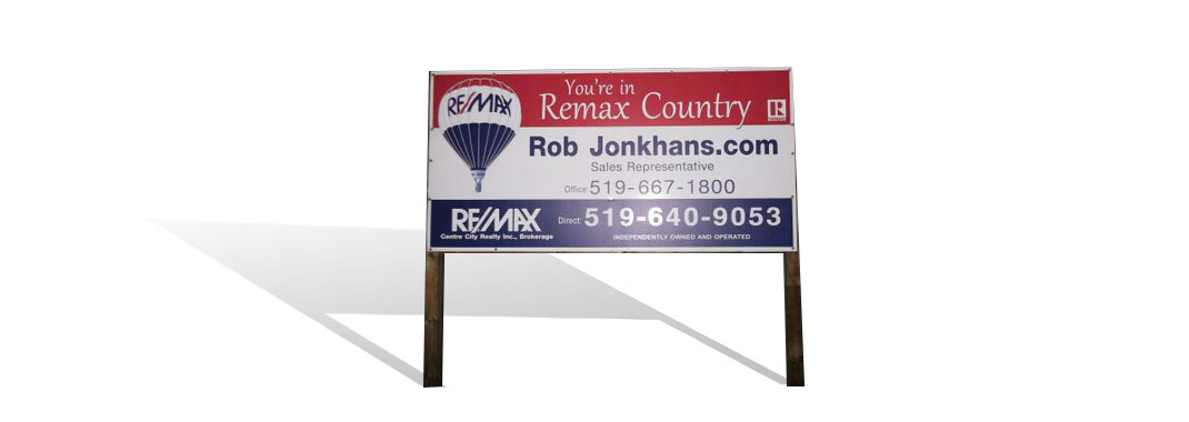 Large Real Estate Signage