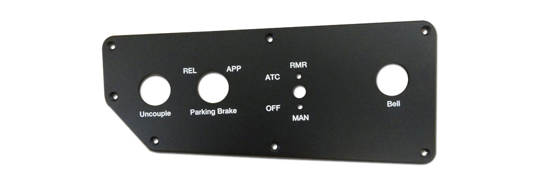 Engraved color-filled control panels