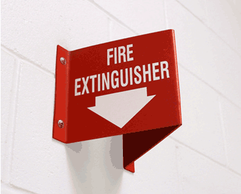 Fire Extinguisher Sign at Fanshawe College