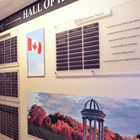 Donor Recognition Wall, Parkwood Hospital