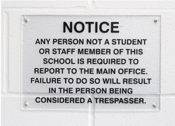 Interior School Board Signage