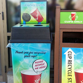 Tim Hortons Recycle Bins