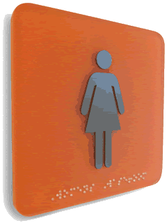 Women's Washroom Sign