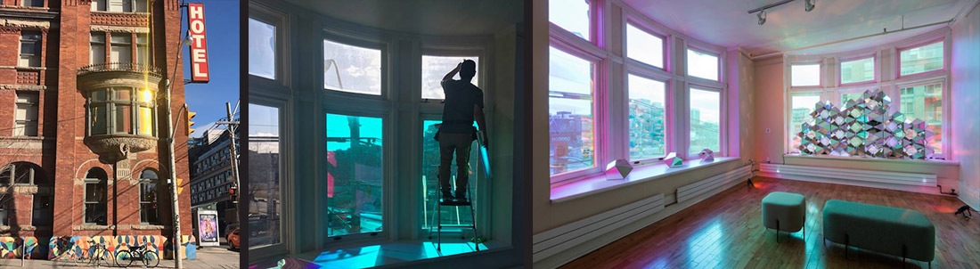 Gladstone Hotel 3M Dichroic Film and Vinyl Signage Installation by INPS Graphics