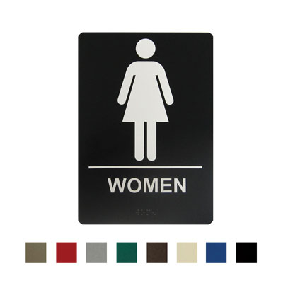 Women s Washroom Sign   Custom Colours. Women s Washroom Sign   550 01 By Law Sign   INPS Graphics