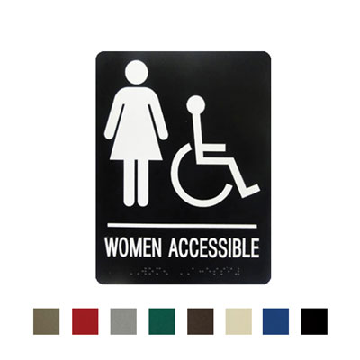 Women's Barrier Free Washroom By-Law Sign
