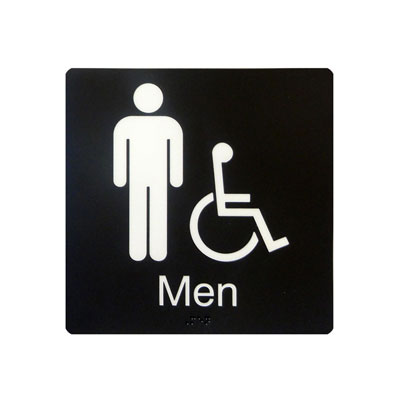 Men's Barrier Free Washroom By-Law Sign