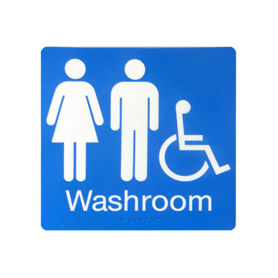 Unisex Barrier Free Washroom By-Law Sign