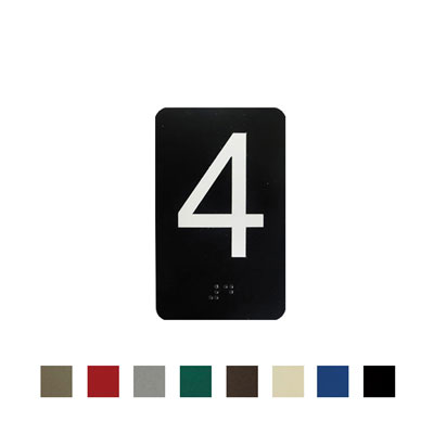 Elevator Door Jam Number Sign With Braille 550 30 By Law Sign