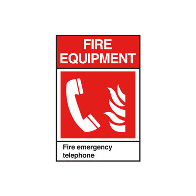 Fire Emergency Telephone ANSI Sign