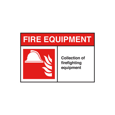 Fire Equipment ANSI Sign, Horizontal