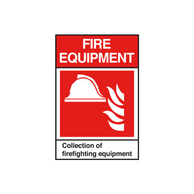 Fire Equipment ANSI Sign, Vertical