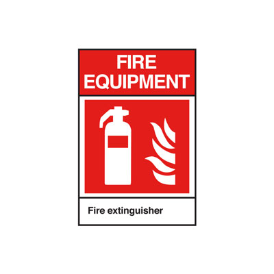 Fire Extinguisher ANSI Sign, Vertical