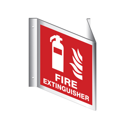 Fire Extinguisher - V sign By-Law Sign