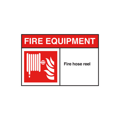 Fire Hose ANSI Sign, Horizontal
