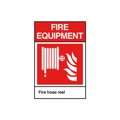 Fire Hose ANSI Sign, Vertical