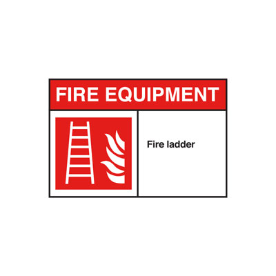 Fire Ladder ANSI Sign, Horizontal