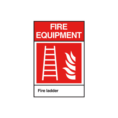 Fire Ladder ANSI Sign, Vertical