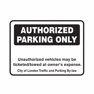 Authorized Parking Only Sign