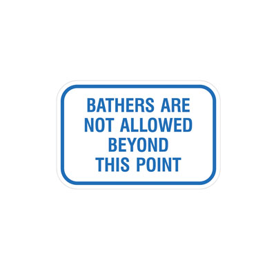 Bathers are not allowed By-Law Sign