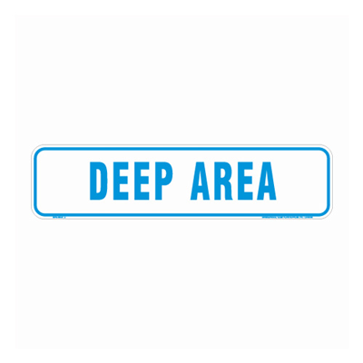 Deep Area Pool By-Law Sign