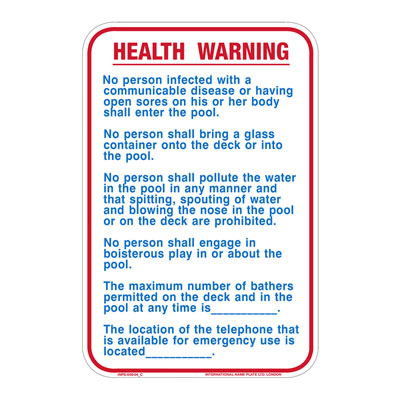 Health Warning By-Law Sign