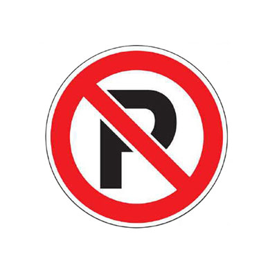 No Parking Symbol Decal Parking Lot Sign