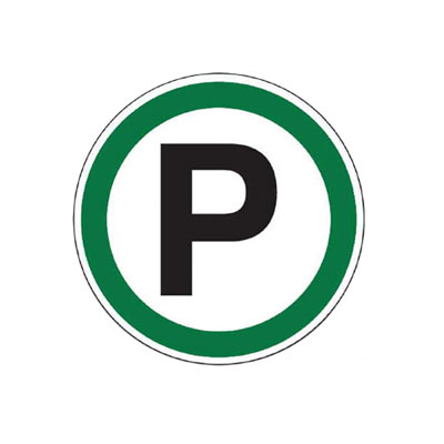 Parking Symbol Decal Parking Lot Sign